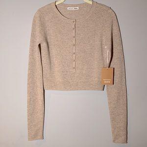 NWT Reformation Cashmere Crop Sweater XL
